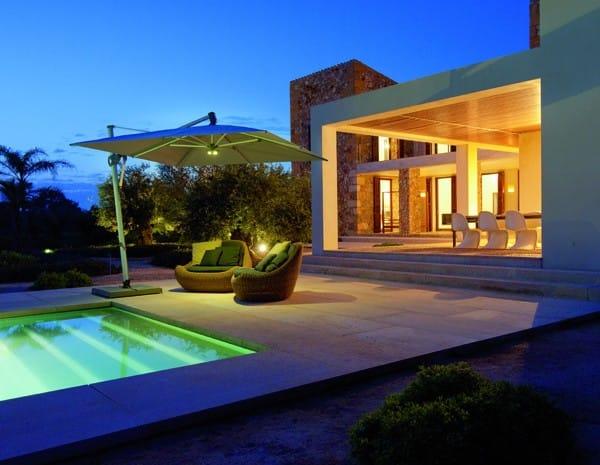 glatz ampelschirm sombrano s 350 x 350 cm quadratisch. Black Bedroom Furniture Sets. Home Design Ideas