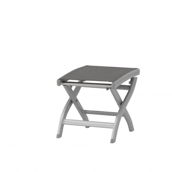 carma aluminium hocker kreta silber batyline bumb gartenm bel karlsruhe. Black Bedroom Furniture Sets. Home Design Ideas
