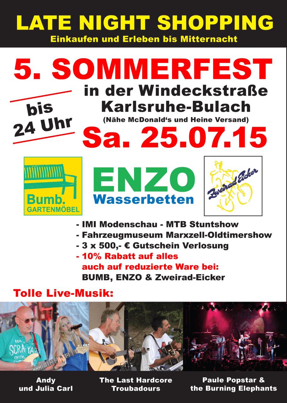 Bumb Karlsruhe late shopping 25 7 2015 bumb gartenmöbel karlsruhe