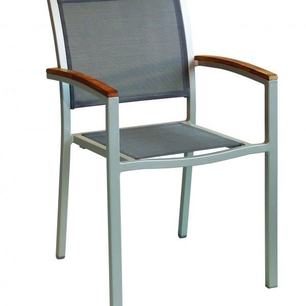 carma aluminium stapelsessel roma silber batyline teak bumb gartenm bel karlsruhe. Black Bedroom Furniture Sets. Home Design Ideas