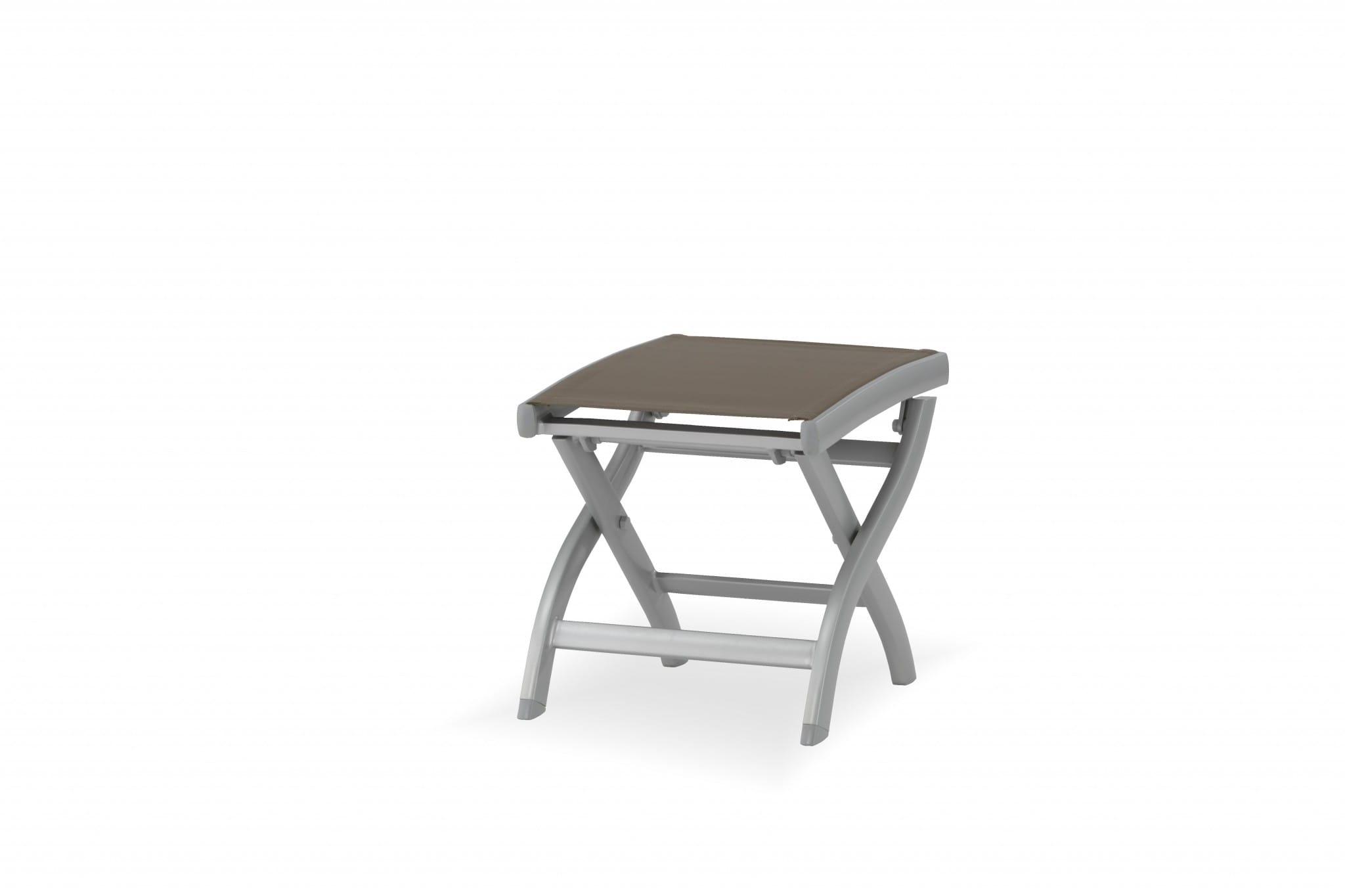carma Aluminium Hocker Kreta silber - Batyline®   Bumb Gartenmöbel ...