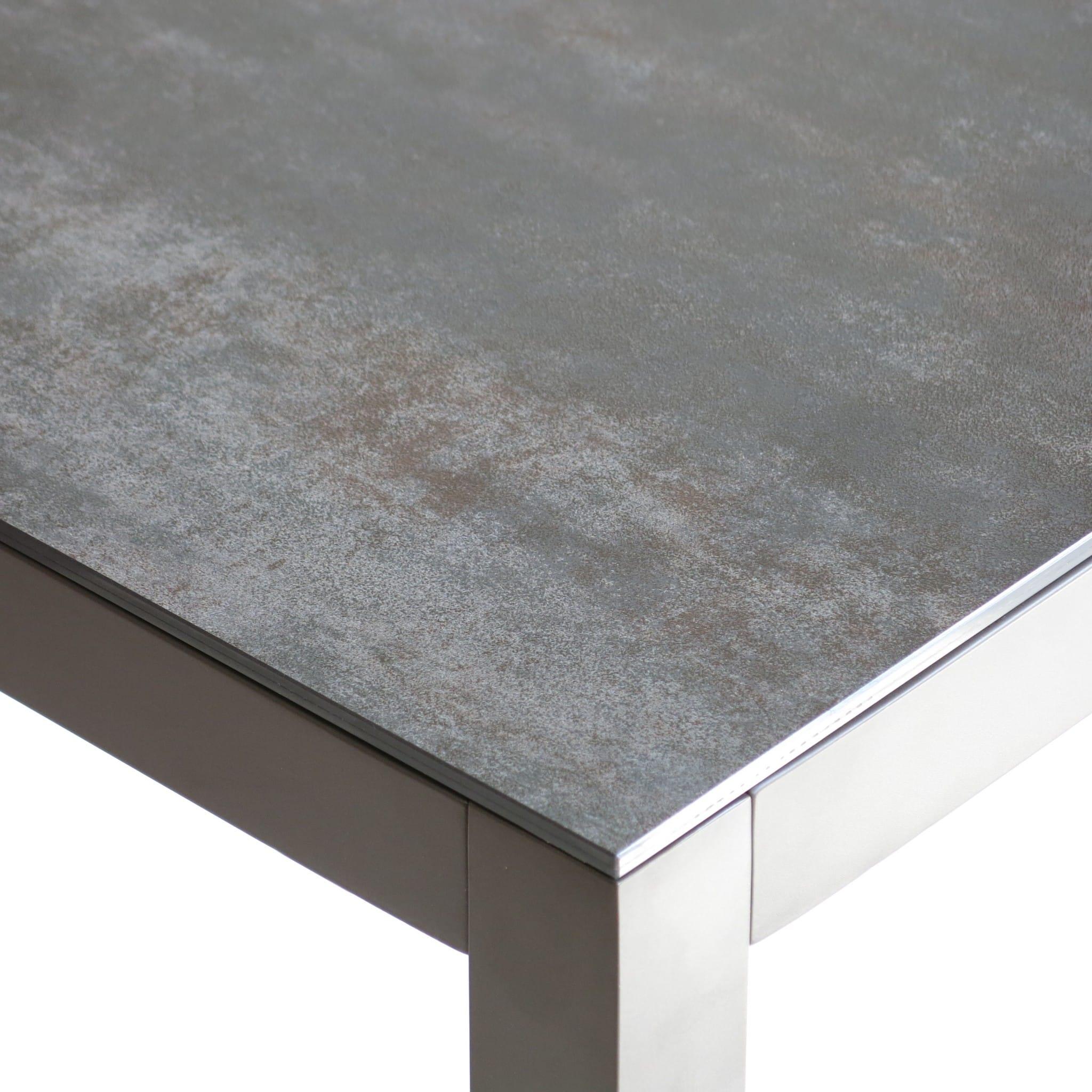 carma Aluminium Montreal Tisch silber - Keramik 6 mm   Bumb ...