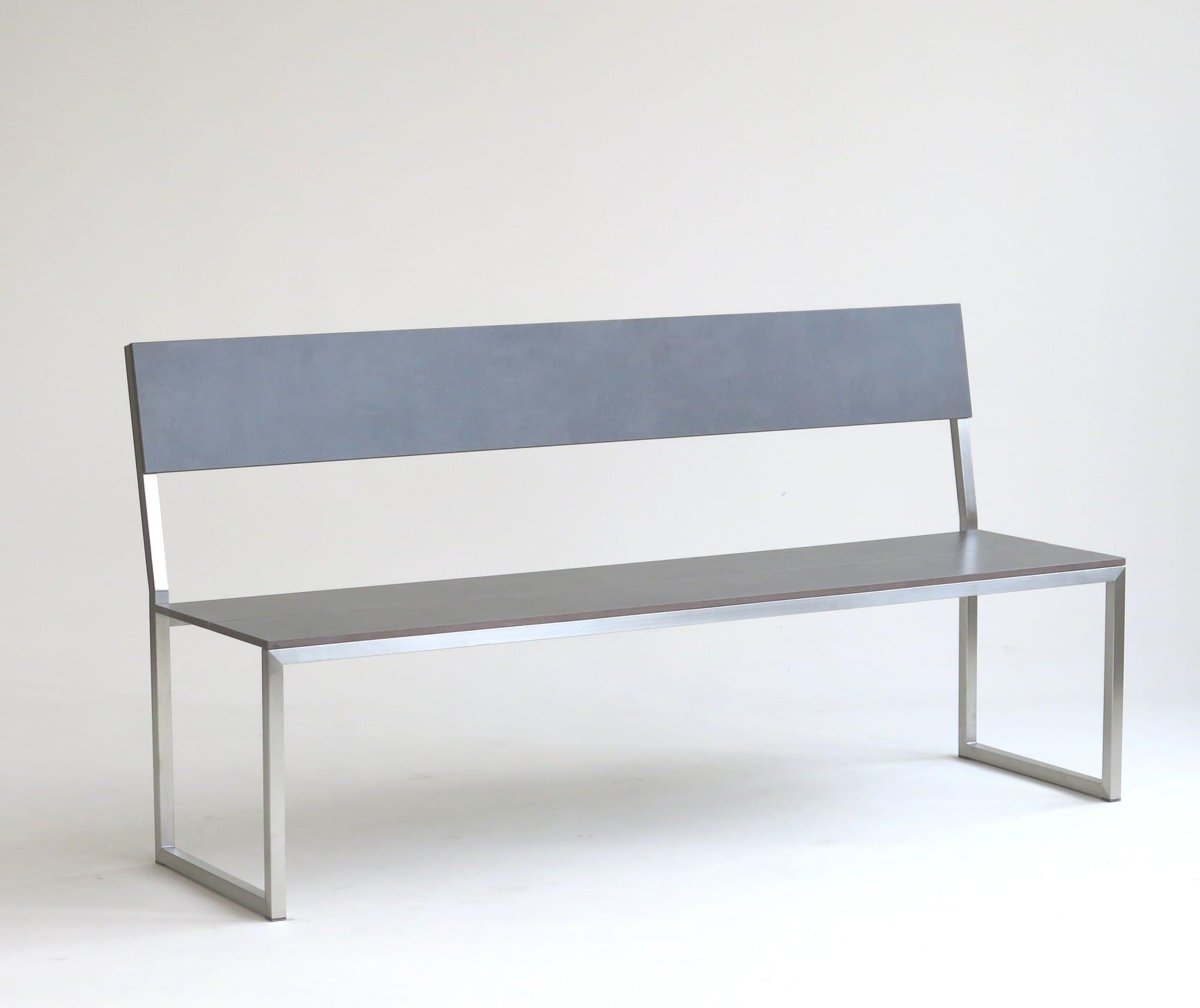 carma edelstahl board bank mit r ckenlehne hpl bumb gartenm bel karlsruhe. Black Bedroom Furniture Sets. Home Design Ideas