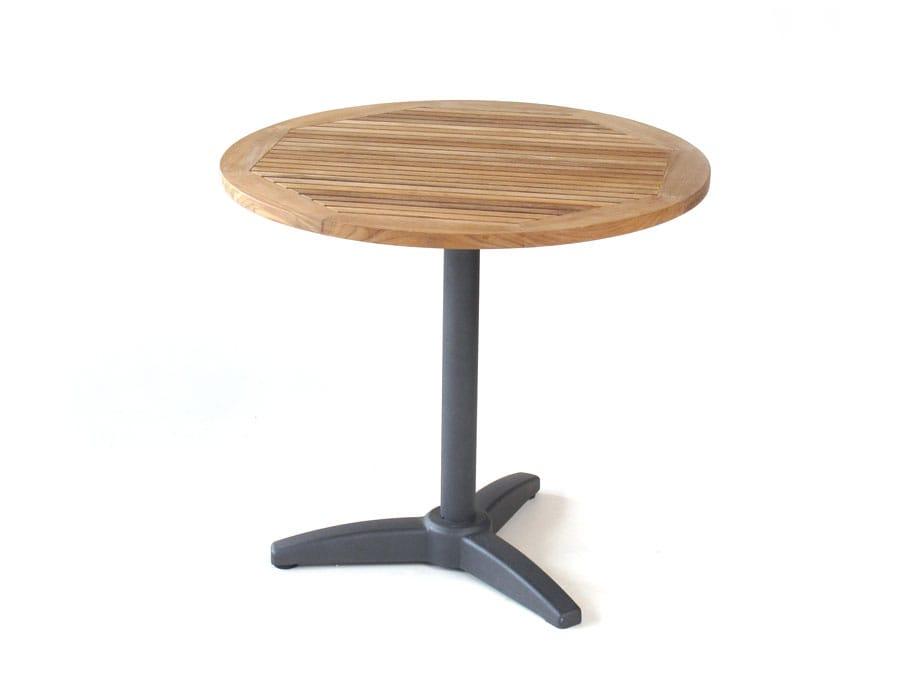 Balkonmobel Set Angebot : carma Aluminium Bistro Tisch rund graphit  Teakholz  Bumb