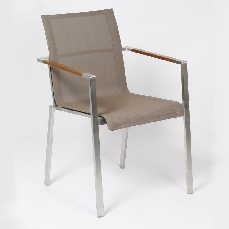 carma edelstahl stapelsessel madrid textilene bumb. Black Bedroom Furniture Sets. Home Design Ideas