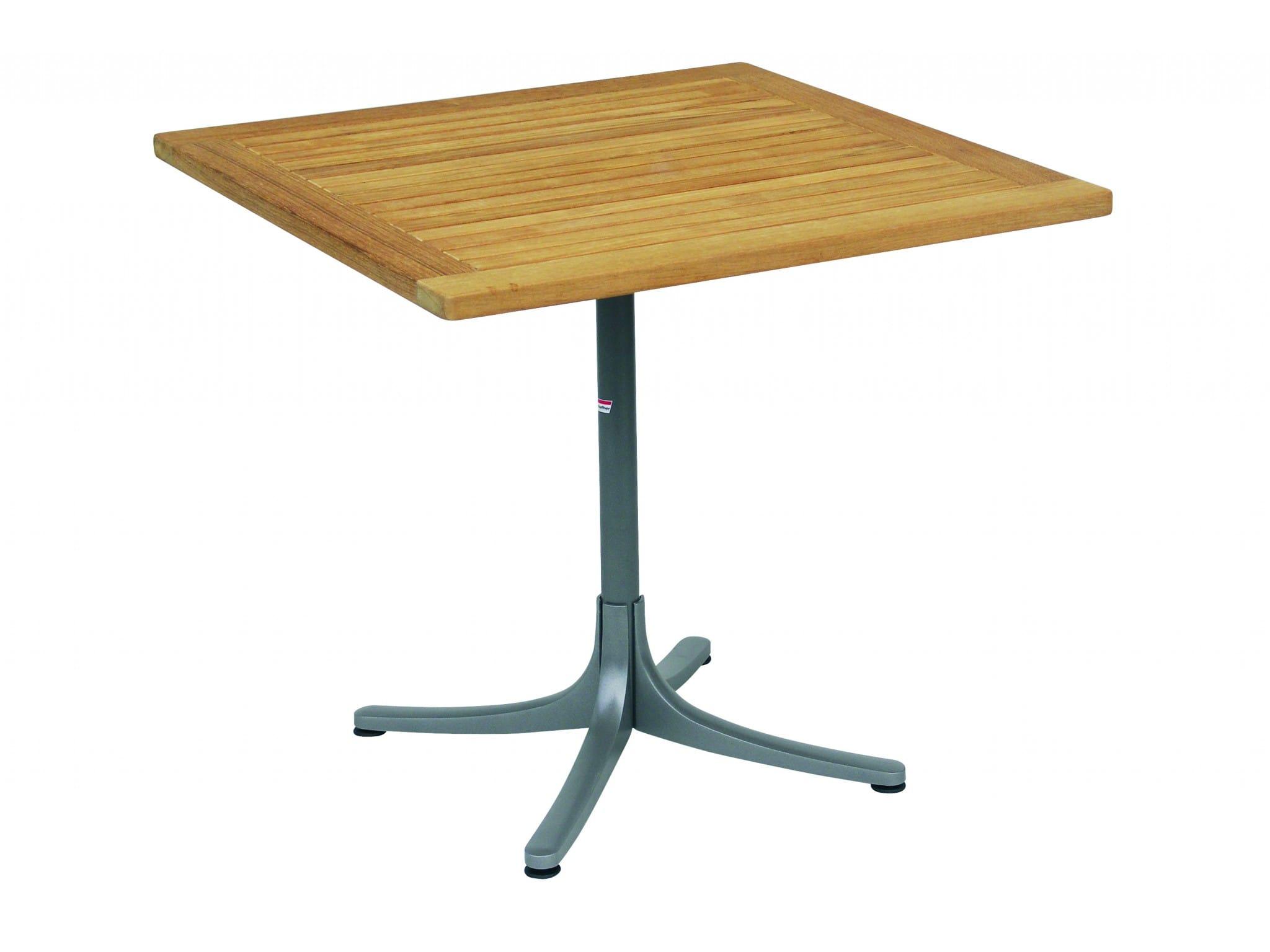 Gartenmobel Set Stern : carma Aluminium Palm Beach Tisch quadratisch graphit  Teakholz  Bumb