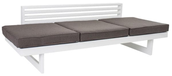 stern aluminium bank liege holly wei mit auflage taupe. Black Bedroom Furniture Sets. Home Design Ideas