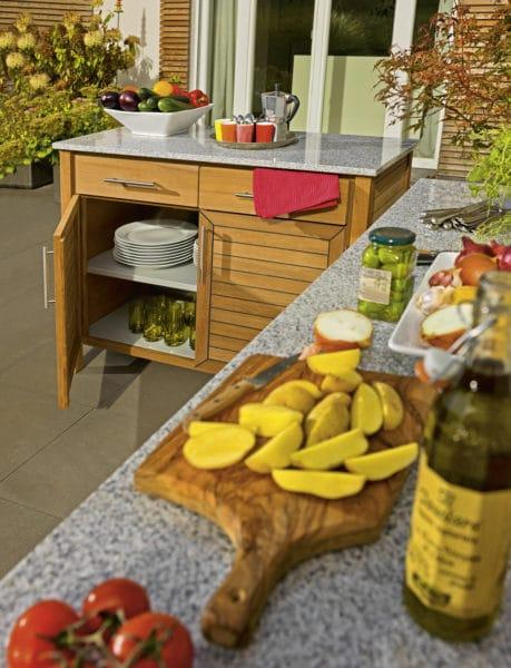 weish upl deck 2er element teak granit bumb. Black Bedroom Furniture Sets. Home Design Ideas