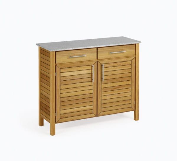 weish upl deck highboard teak granit bumb gartenm bel karlsruhe. Black Bedroom Furniture Sets. Home Design Ideas