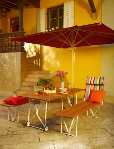 weish upl mittelstockschirm klassiker rechteckig esche acryl bumb gartenm bel karlsruhe. Black Bedroom Furniture Sets. Home Design Ideas