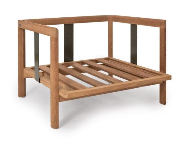 weish upl newport lounge sessel teak metallwangen ohne kissen bumb gartenm bel karlsruhe. Black Bedroom Furniture Sets. Home Design Ideas