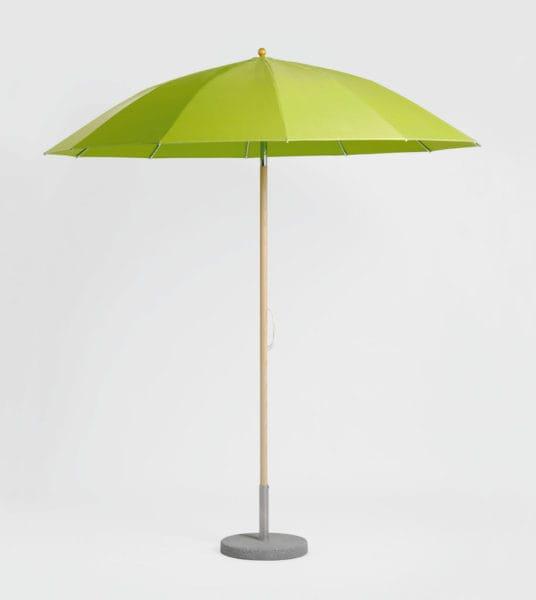 weish upl mittelstockschirm pagodeschirm rund aluminium oder esche acryl bumb gartenm bel. Black Bedroom Furniture Sets. Home Design Ideas