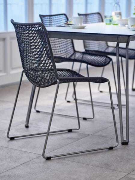 weish upl slope stuhl edelstahl kordelgeflecht bumb. Black Bedroom Furniture Sets. Home Design Ideas