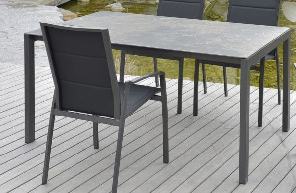 sitmobilia ventura tisch aluminium teak bumb gartenm bel karlsruhe. Black Bedroom Furniture Sets. Home Design Ideas
