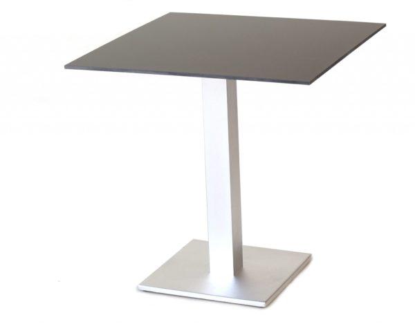 Carma Aluminium Arktis Tisch Quadratisch Edelstahloptik Hpl Bumb