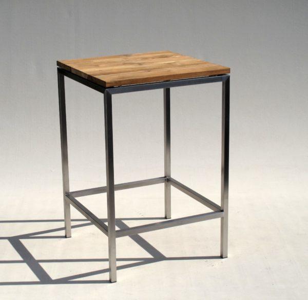 carma edelstahl zero bartisch old teakholz bumb gartenm bel karlsruhe. Black Bedroom Furniture Sets. Home Design Ideas