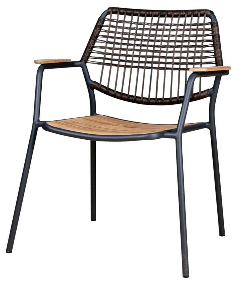 Zebra greenline Flix Sessel - Aluminium / Polyrattan / Old Teakholz | Bumb  Gartenmöbel Karlsruhe