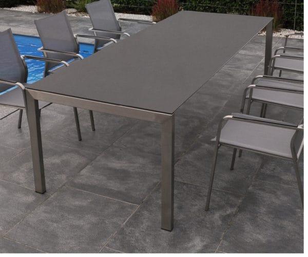 Sitmobilia Ventura Tisch Edelstahl Granit Bumb Gartenmöbel