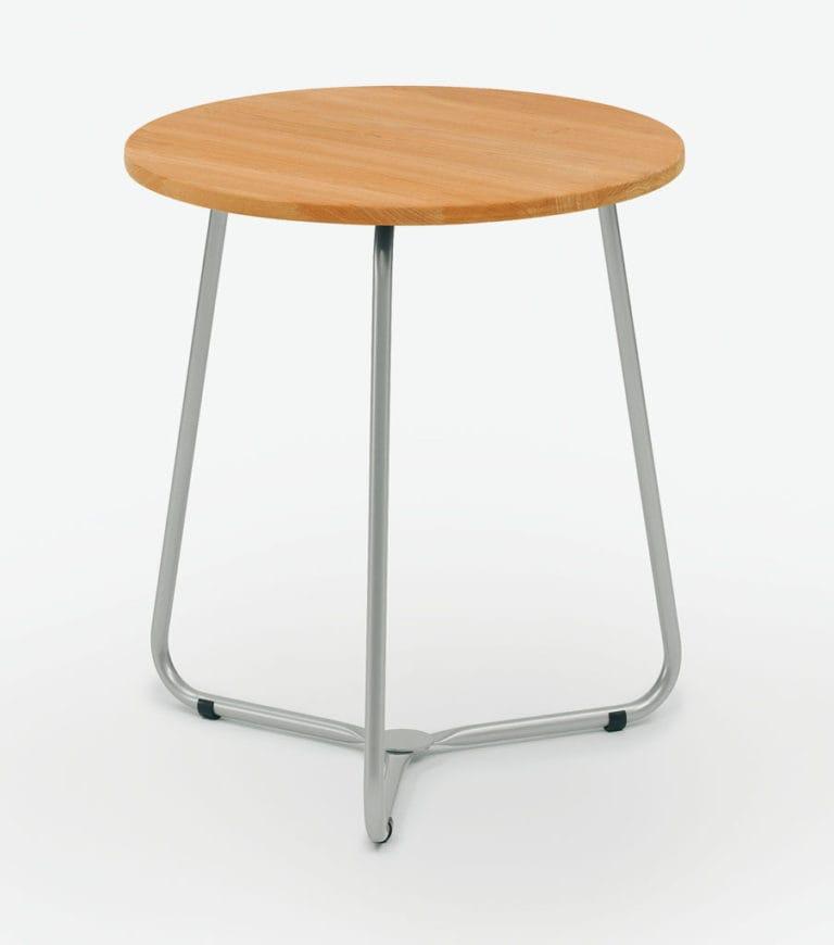 Weishäupl Balcony Bistro-Tisch - Edelstahl / HPL oder Teak   Bumb ...