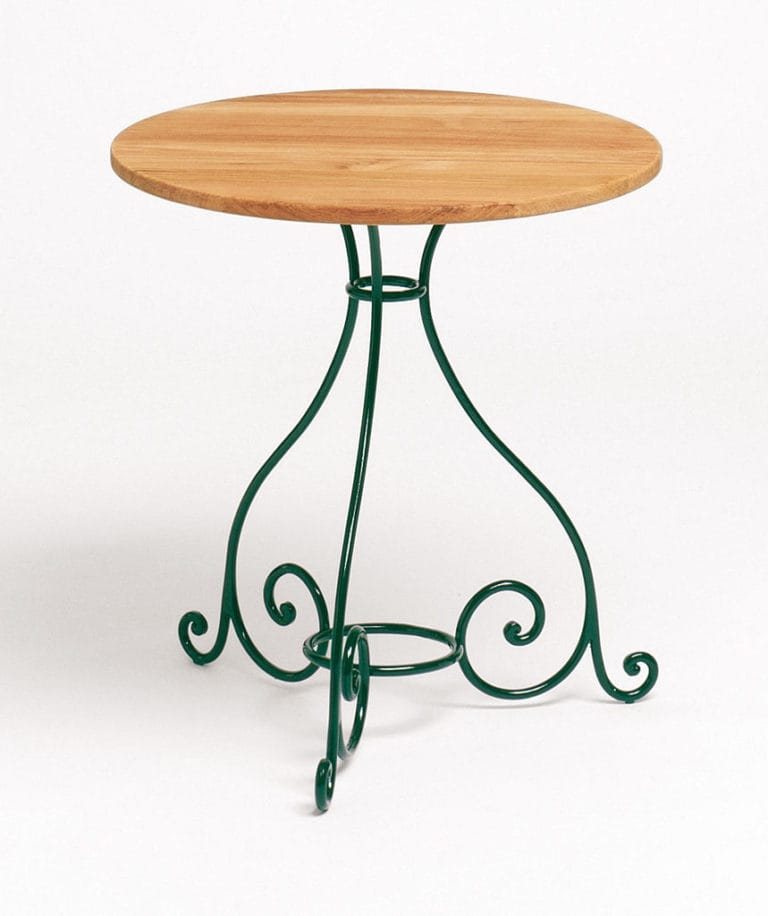 Weishäupl Classic Tisch rund Schmiedeeisen - Eisen / Teak   Bumb ...