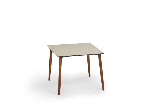 Weishaupl Slope Tisch Quadratisch Hpl Oder Teak Edelstahl Oder