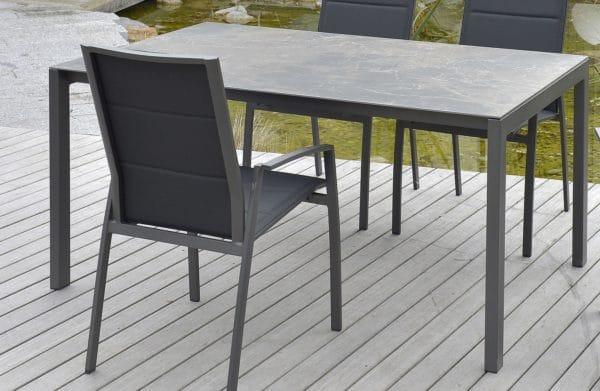 Sitmobilia Ventura Tisch Aluminium Granit Bumb Gartenmöbel
